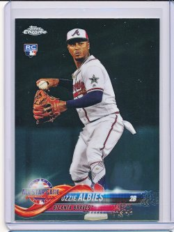 Ozzie Albies 2018 Topps Chrome Update AS RC