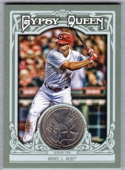 2015 Topps Gypsy Queen State Coin Jay Bruce
