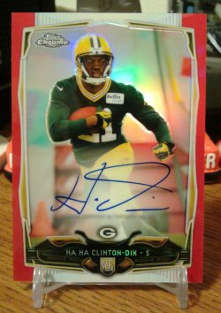2014 Topps Chrome RED Refractor Autograph HaHa Clinton-Dix