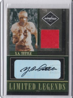 2006 Leaf Limited Legends Signature Materials YA Tittle