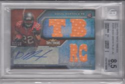 2012 Topps Triple Threads Jersey Auto Gold Doug Martin