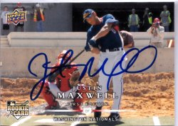 2008 Upper Deck First Edition Justin Maxwell RC IP Auto