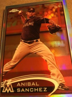 2012 Topps Chrome Sepia ReFractor ANIBAL SANCHEZ  #72 51/75  Marlins Detroit Tigers RHP