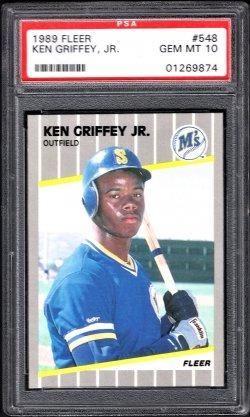 1989   Ken Griffey Jr. Fleer RC PSA 10
