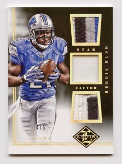 2014 Limited Star Factor Triple Material Gold #SFRB Reggie Bush 4/5
