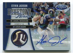 2011 Panini Certified Steven Jackson Hometown Heroes Patch Autograph