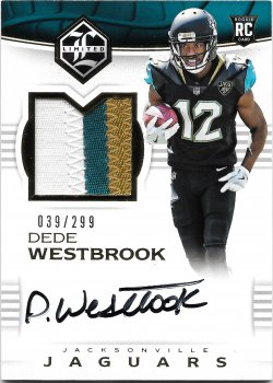 2017 Panini Limited Rookie Patch Autographs Dede Westbrook