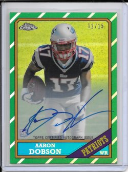 2013 Topps Chrome 1986 Refractor Autograph - Aaron Dobson