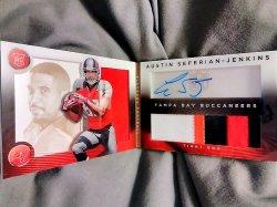 2014 Panini Playbook Austin Seferian-Jenkins Rookies Booklet Signature Gold Parallel