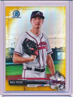 Max Fried 2017 Bowman Chrome Prospects Gold Refractor /50