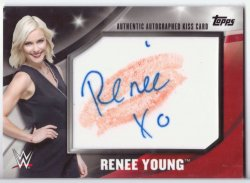 2016 Topps Divas Revolution RENEE YOUNG (AUTO/KISS)