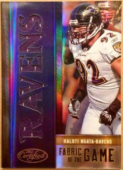 2012 Panini Certified Fabric of the Game Team Die Cut Haloti Ngata