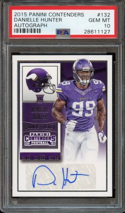 2015 Panini Contenders Rookie Ticket Auto Danielle Hunter