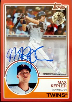 2018 Topps Series 1 Max Kepler 1983 Red