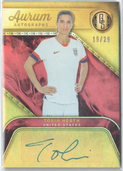 2019-20 Panini Gold Standard Aurum Autographs Fine Tobin Heath
