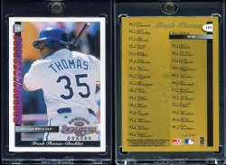 1998  Donruss Signature Proof CL Frank Thomas