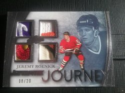 2015-16 Leaf Ultimate Jeremy Roenick quad patch # 08-20