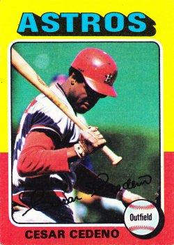 1975 Topps  Cesar Cedeno