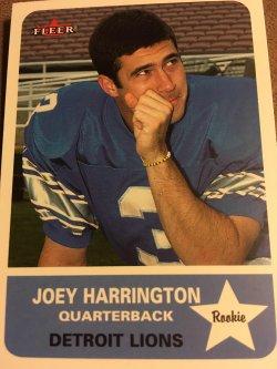 2002 Fleer RC JOEY HARRINGTON #263  Detroit Lions Oregon Rookie QB