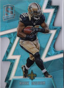 2016 Panini Spectra Neon Blue Die Cut Mark Ingram