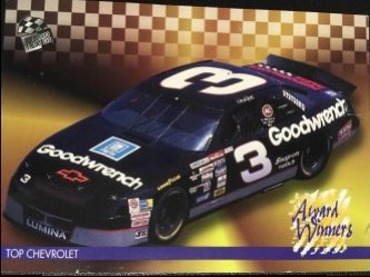 1995 Press Pass AWARD WINNERS Top Chevy DALE EARNHARDT #115 Goodwrench #3 Chevrolet
