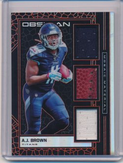 A.J. Brown 2019 Panini Obsidian Mosaic Materials Electric Etch Orange /50