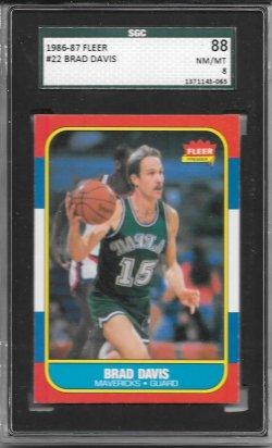 1986-87 Fleer  Brad Davis RC