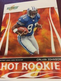 2007 Score Hot Rookie  CALVIN JOHNSON #HR-5 Detroit Lion MEGATRON GeorgiaTech WR