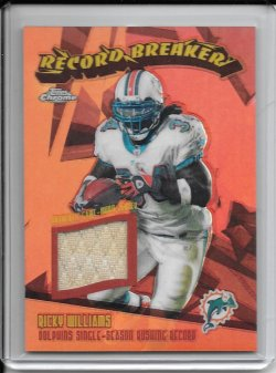 2003 Topps Chrome Record Breaker Jersey - Ricky Williams