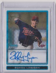 2009 Topps Bowman Chrome Bobby Lanigan X-Fractor Autograph