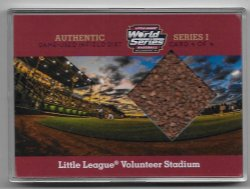 2016  Choice Little League World Series Volunteer Stadium Authentic Game-Used Infield Dirt Relic