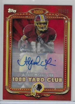 2013 Topps Chrome 1000 Yard Club Red Refractor Autograph - Alfred Morris