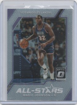 2018 Panini optic Magic Johnson all stars silver