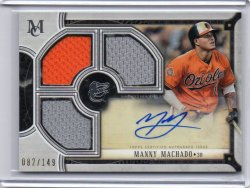 2018 Topps Museum Collection Manny Machado Copper Auto
