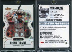 2007  Topps Finest Xfractor Frank Thomas