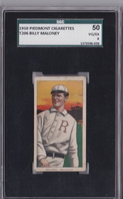 1909  T206 Piedmont 350 Billy Maloney