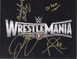 2015   Wrestlemania 31 Signed IP 8x10 (Bushwacker Butch, Disco Inferno, Mick Foley, XPac)