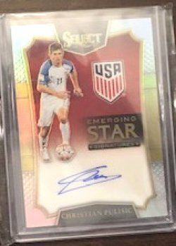 2016 Panini Select Christian Pulisic Emerging Stars RC Autograph