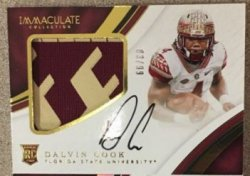 2017 Panini Immaculate College Dalvin Cook Auto Patch