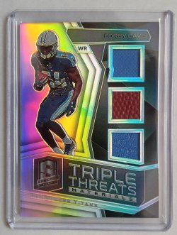 2017 Panini Spectra Corey Davis Rookie Triple Threats Materials