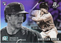 2018 Topps Bowman Platinum Bader, Harrison - Rookie Revelations Purple
