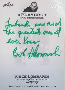 Leaf Vince Lombardi Legacy Bob Skoronski Green Ink Auto