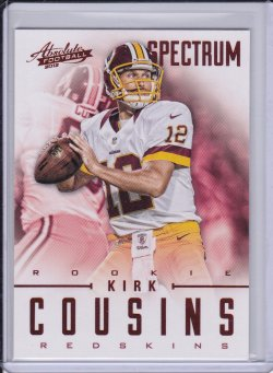 Kirk Cousins 2012 Absolute Spectrum Red Retail RC