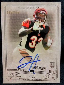 2014 Topps Museum Collection Jeremy Hill Rookie Signature Series Autographs
