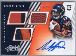2018 Panini Absolute Anthony Miller Rookie Premiere Material Autos Spectrum