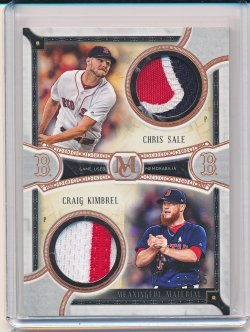 Craig Kimbrel and Chris Sale 2018 Topps Museum Collection Dual Player Meaningful Material Relics Copper /35