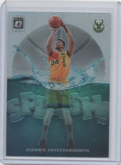2019 Panini optic Giannis Antetokounmpo splash holo