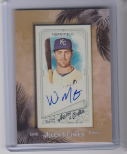 2018 Topps allen and ginter whit merrifield
