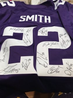 Signed Vikings Jersey