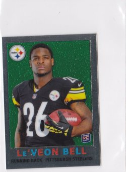 2013 LeVeon Bell Topps Chrome 1959 Mini  RC    Steelers A5725